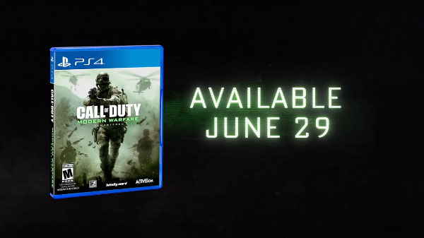 Data per Call of Duty: Modern Warfare Remastered