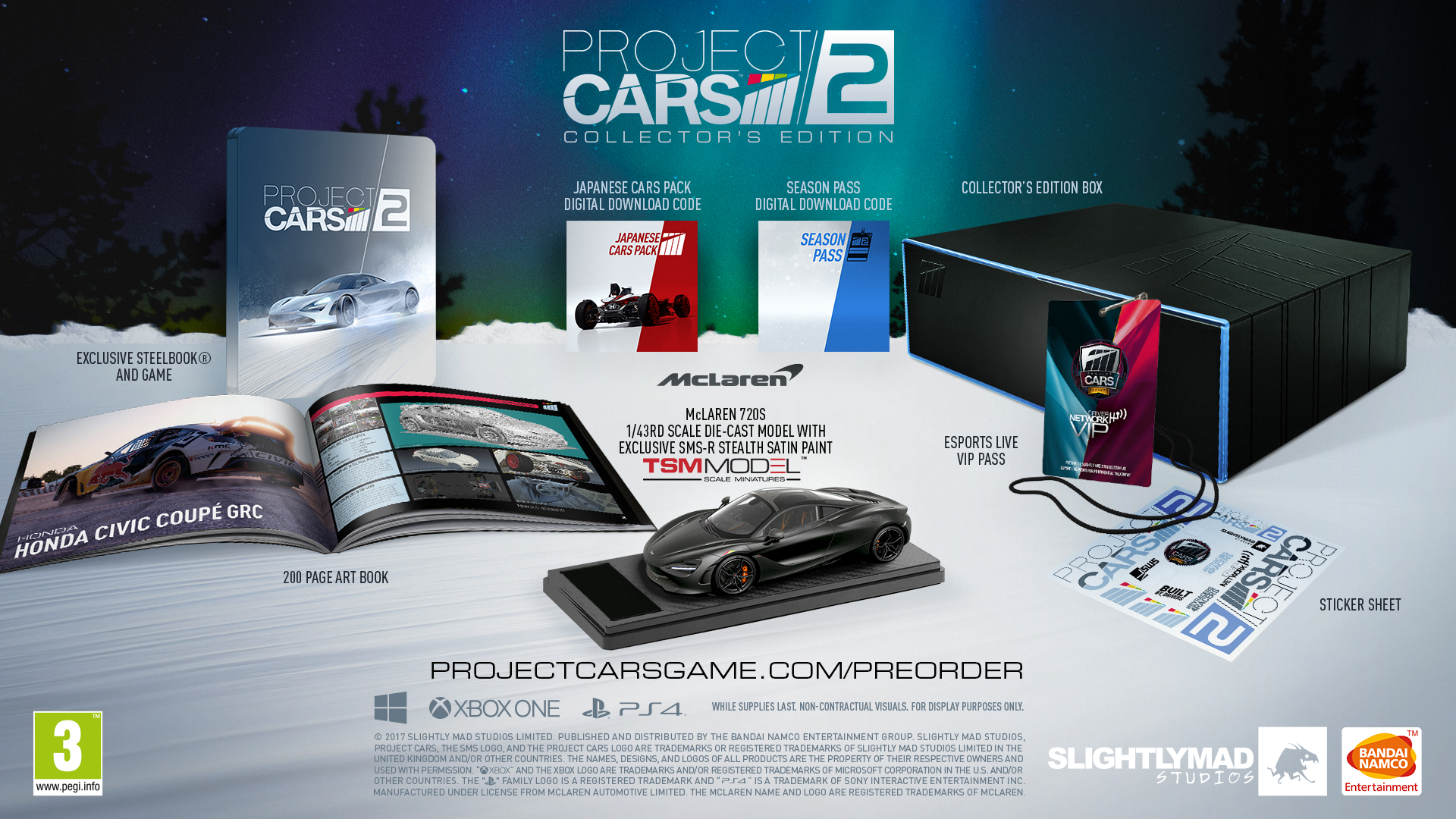 Svelate le Edizioni Speciali di Project Cars 2