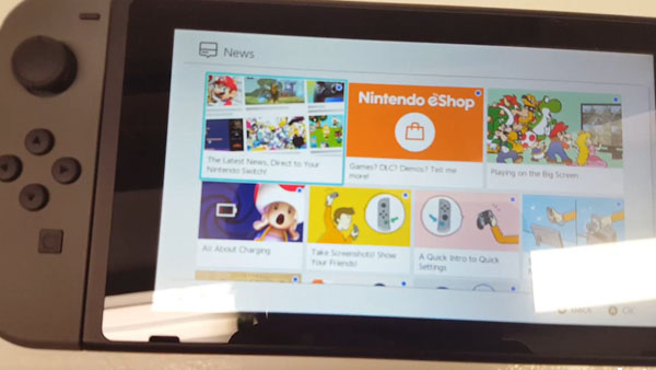 Nintendo Switch: Video sistema operativo
