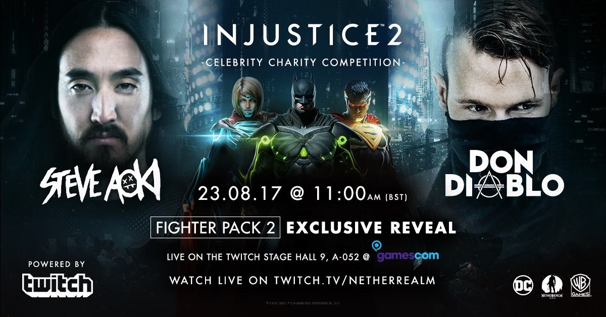 WB annuncia la Injustice 2: Celebrity Charity Competition