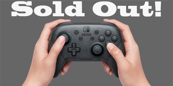Switch sold out in America