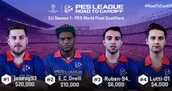 Vincitori della Prima Finale Europea del torneo PES LEAGUE ROAD TO CARDIFF