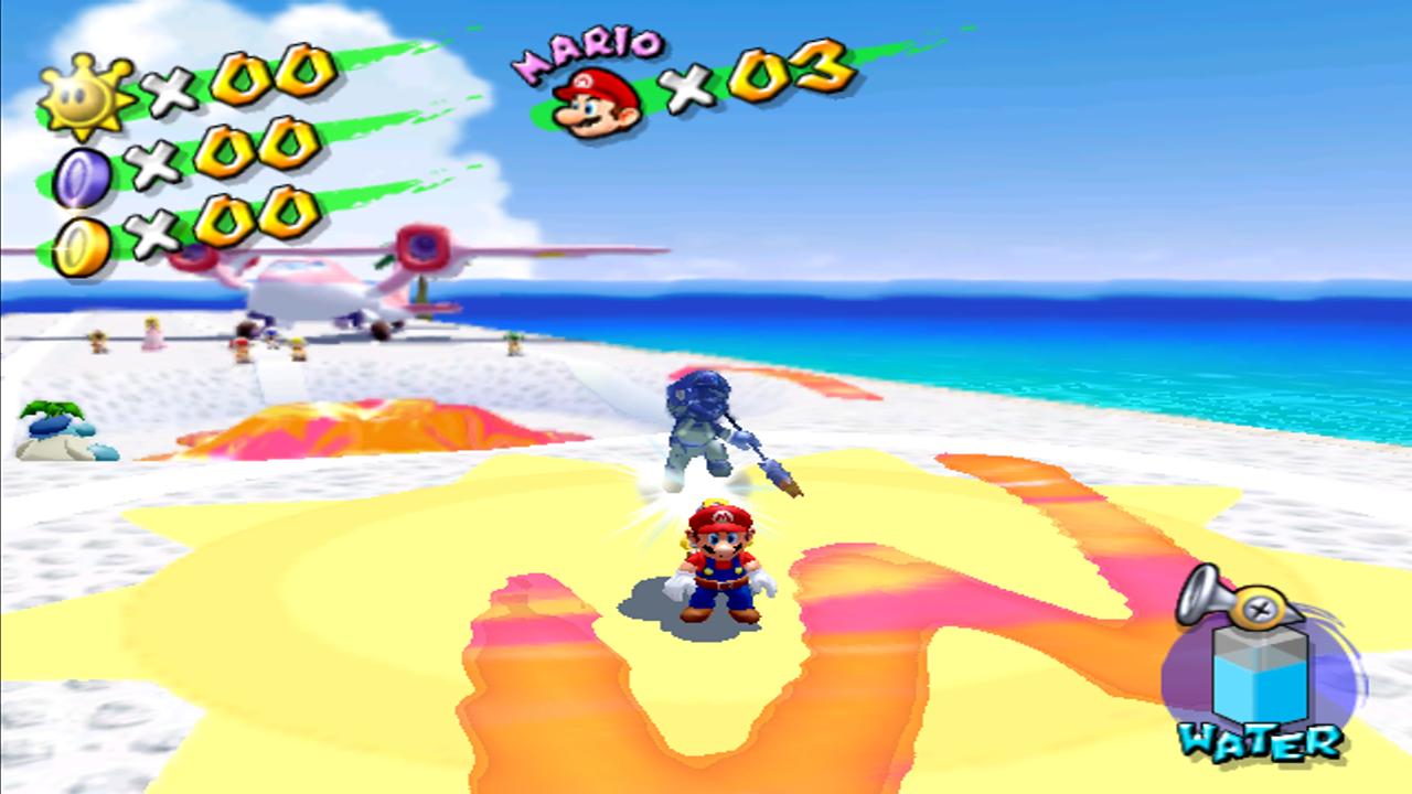 Super Mario Sunshine Vs Mario Ombra