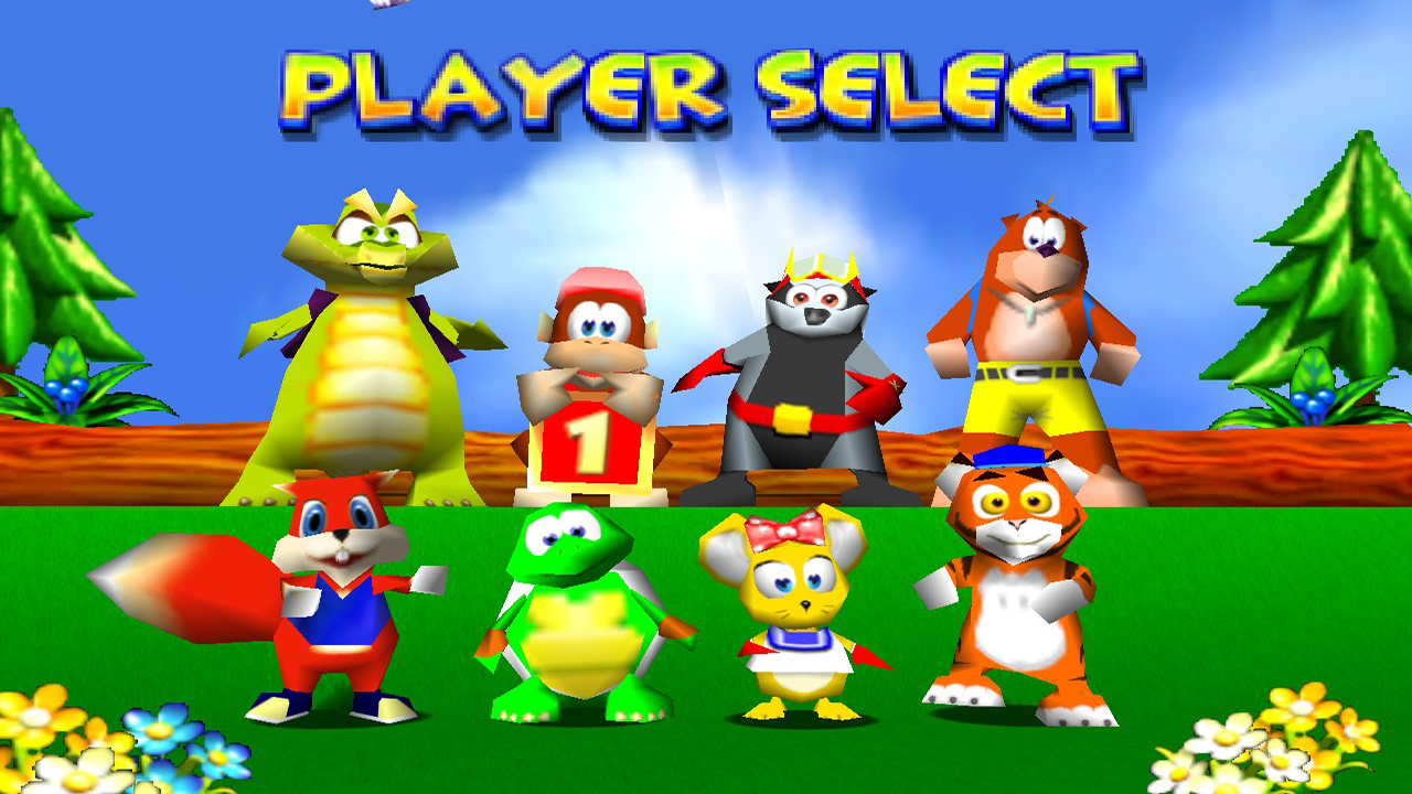 Diddy Kong Racing - Player Select