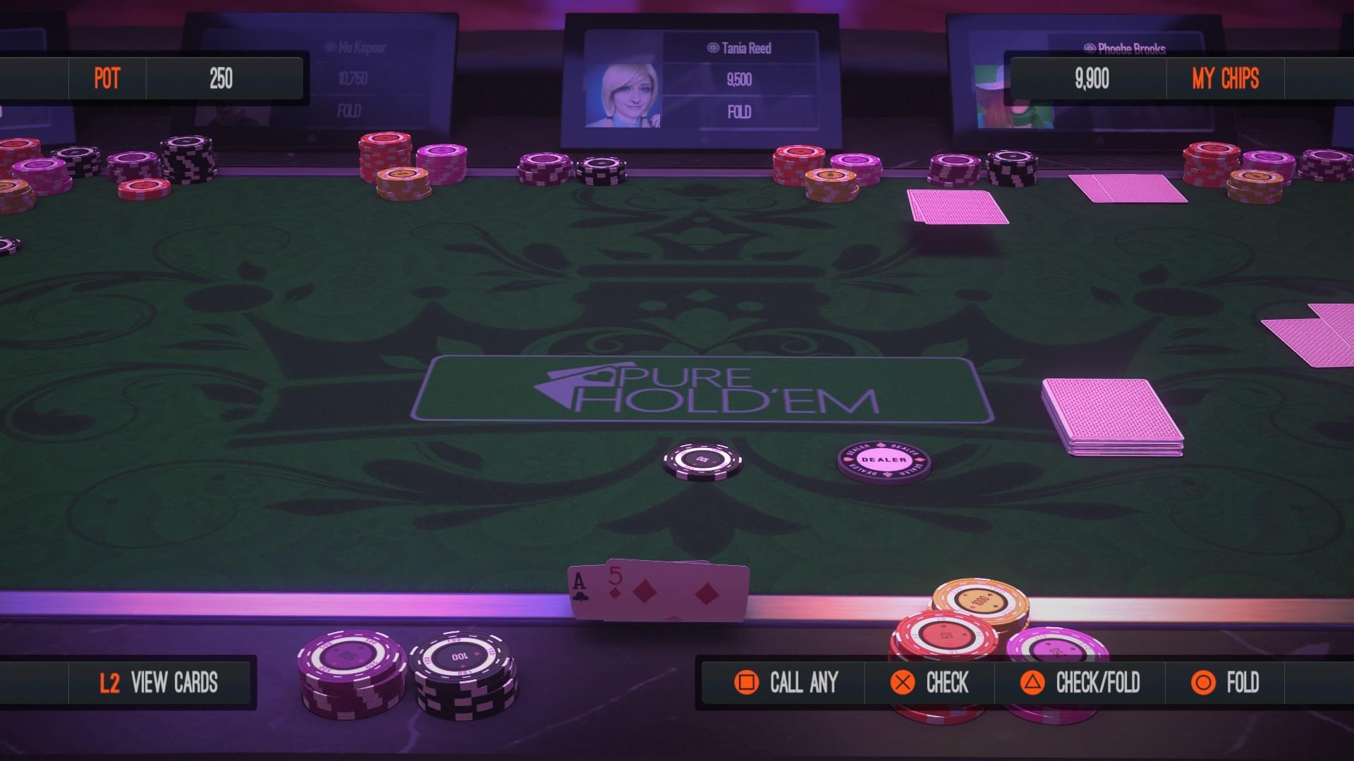 Top 5 videogiochi dedicati al Poker Texas Hold'em - Pure Hold'em