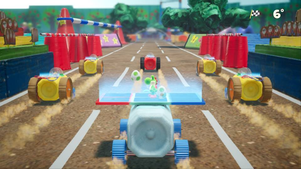 Yoshi's Crafted World - Racing