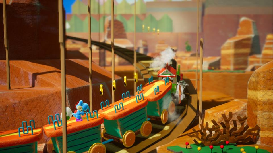 Yoshi's Crafted World - Treno