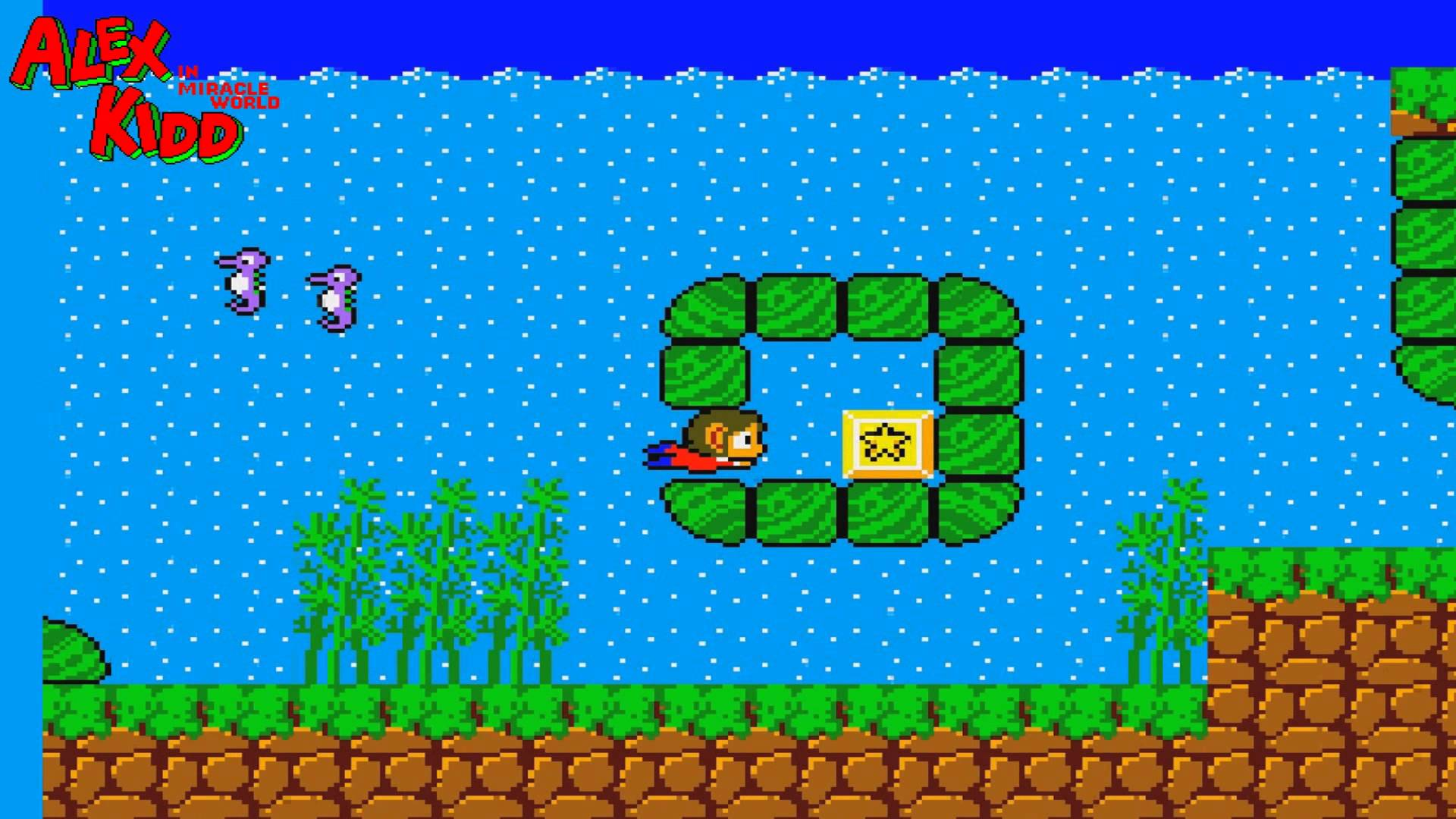 Alex Kidd in Miracle World in acqua