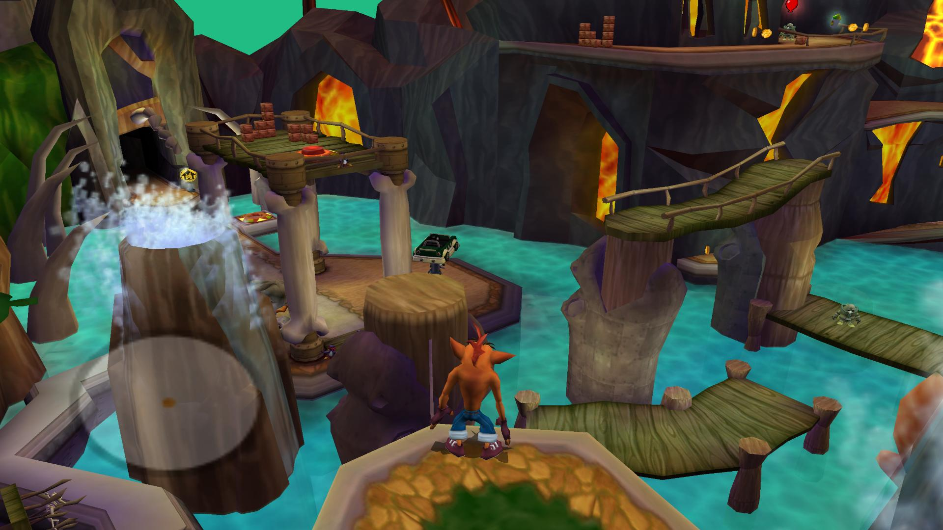 Crash Tag Team Racing screenshot platform