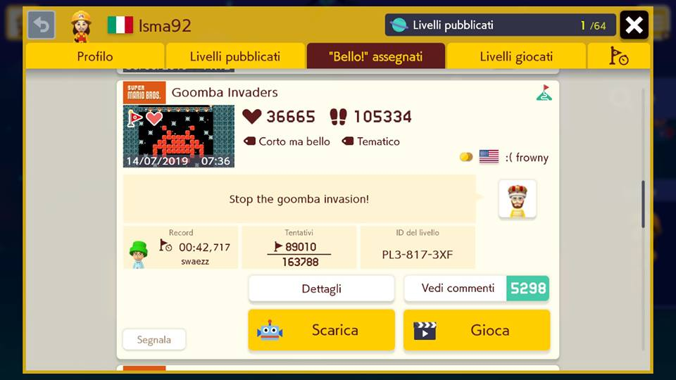 Super Mario Maker 2 - Goomba Invaders