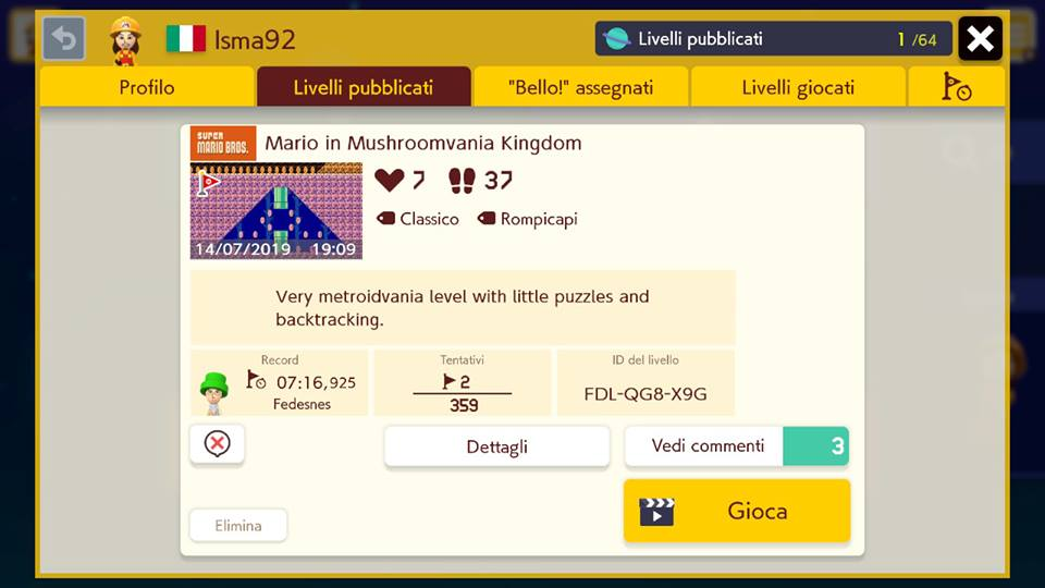 Super Mario Maker 2 - Mario in Mushroomvania Kingdom