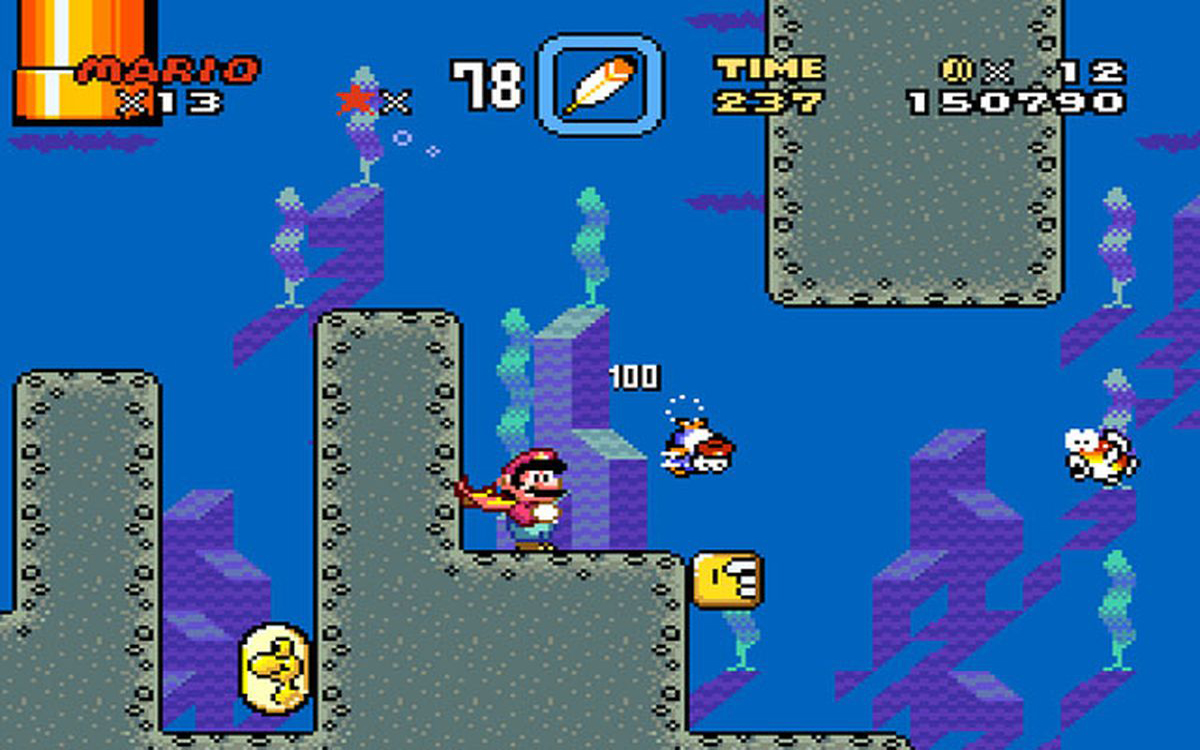 Super Mario World - Screenshot Water Area
