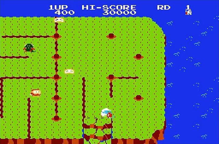 Dig Dug II screenshot Famicom